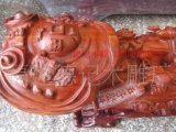 供应木雕佛像佛珠工艺摆件礼品红檀五子登科
