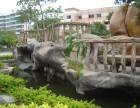 湖南共龙园艺供应仿木护栏 仿石栏杆 艺术围栏