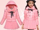 2014秋冬季正品童装儿童羽绒服女童中长款中大童休闲加厚外套批发