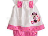 外贸童装 女童迪士尼卡通套装 米奇两件套装 女宝可爱裙衣 短裤