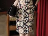 爆版女装 2014新款韩版印花裙高腰包臀裙半身裙OL风修很半身裙