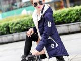 棉衣女2015秋冬新款韩版修身女式中长款羽绒棉棉衣棉服女款外套