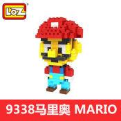 俐智积木俐智loz小颗粒钻石拼装儿童玩具创意拼装9338超级玛丽