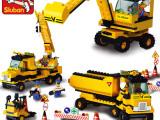 批发零售 益智科教类玩具  ABS环保原料 工程总队积木 6岁以