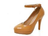 2013春款高跟单鞋圆头防水台淑女鞋可2穿时尚休闲百搭女鞋子BG
