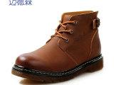 秋冬新男牛皮马丁靴 英伦潮流真皮工装靴男靴 高帮复古色帅气男鞋