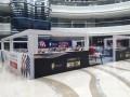 丹东市商场促销展位搭建布展活动物聊道具pop灯片背胶制作安装