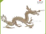 较热销儿童玩具 立体拼图代理批发 中国龙3D木制仿真模型DJ14