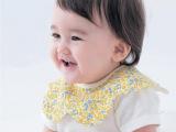 日单千趣会 宝宝360度花朵围嘴尾单 儿童口水巾外贸原单婴儿围兜