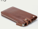 新款外贸  时尚高档长款男士钱包 真皮手拿包 卡包 商务手机包