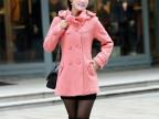 2014韩版羊毛呢外套 秋冬大衣 风衣女 大码女装修身批发秋冬外套