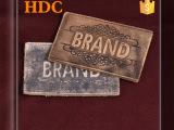 HDC  头层牛皮PU标 牛仔裤外套高档皮标 厂家直销可定制