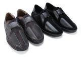 时尚精品男士皮鞋秋冬新款 经典真皮头层皮拼料男士圆头休闲鞋