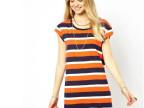 2014春夏新款ASOS同款条纹短袖女式针织连衣裙