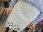 2015早春超美精致水溶蕾丝镂空勾花 超仙半身裙 中裙