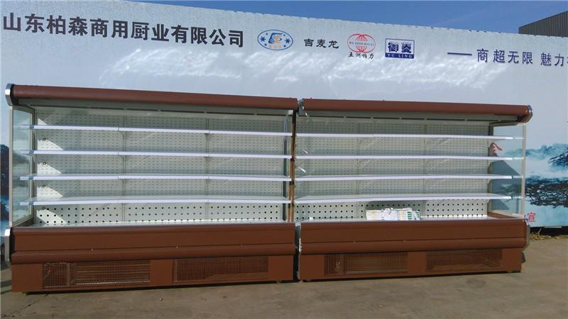 聊城风幕柜 定做带门立式风冷柜 水果保鲜柜 环岛风幕柜