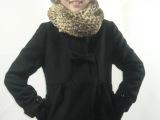 供应女式韩版毛呢外套毛呢修身可爱蝴蝶结外套