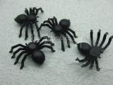 黑色仿真小蜘蛛 万圣节塑料玩具蜘蛛 2*1.4CM