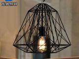 餐厅灯工业吊灯北欧宜家经典极简鸟巢灯钻石编织铁艺铁笼吊灯