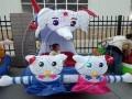儿童充气电瓶车广场充气电瓶车新款 广场彩灯电动游乐车气模外罩