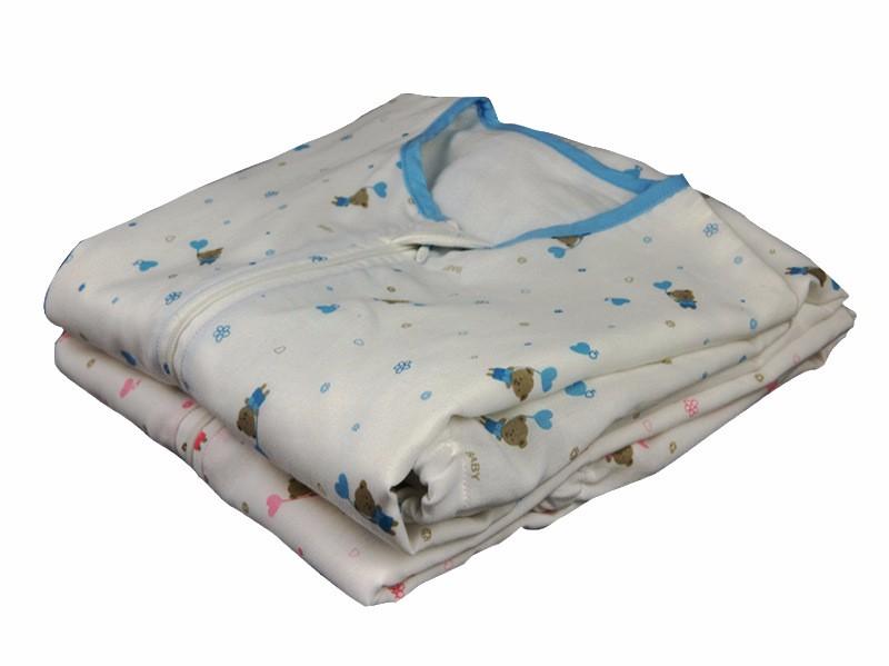 朋鸿雅贝比纯棉纱布实力厂家全棉三层纱布短袖宝宝睡袋