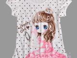 厂家直销女童短袖童T恤卡通美少女韩版夏季女大童短袖t恤批发