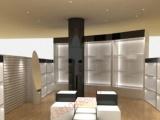 烤漆珠宝首饰品中岛柜台商场玻璃展柜欧式饰品店货架服装店展示柜