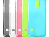 三星Galaxy S5手机壳 i9600双面磨砂TPU清水套 S