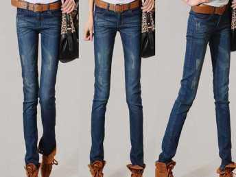 2014新款休闲磨白做旧复古修身显瘦小脚铅笔裤牛仔裤女裤