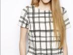 3797-欧美风2014夏季新款 大牌女装圆领个性格纹上衣短袖百搭T恤