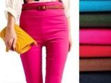 糖果色 高腰弹力小腿裤 铅笔裤 九分裤 打底裤 天猫货源