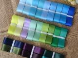 长期供应 优质25mm双面缎带 蝴蝶结发夹diy材料包 24色选