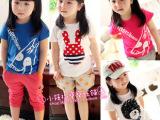 儿童t恤2014夏季新款童装韩版卡通纯棉男女童短袖t恤厂家直销