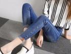 广州沙河批发市场最便宜韩版牛仔裤批发地摊货源几元牛仔裤清仓