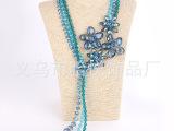 2014新款水晶项链  欧美小香风名媛气质唯美项链 欧美夸张饰品