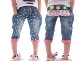 新款韩版童装牛仔裤 女童牛仔 中大童裤
