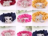 厂家直销 酷8饰品发带 无纺布头箍发饰 时尚优雅镶钻水晶加厚发圈