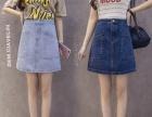 新款便宜女装牛仔裙牛仔短裙批发厂家韩版女士牛仔裙批发