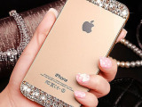 iPhone6手机壳 水钻 苹果6金属边框后盖 5s保护套 手机