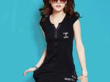 批发新款夏装半袖韩国运动套装 时尚大码短袖休闲套装女夏