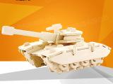 若态3D立体木质拼图拼板DIY木制拼装模型益智创意玩具坦克JP2