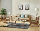 美琳馨纯实木茶几沙发边几角几白橡木沙发