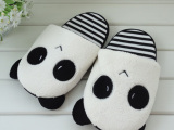 超柔超萌物 熊猫2代按毛绒情侣外贸拖鞋
