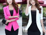 H956韩版潮少女装七分袖女士小西装大码修身地摊货源热卖便宜批发