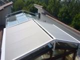 天幕遮阳蓬轨道天顶遮阳篷阳光房玻璃房遮阳棚