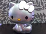 卡通立体可爱hello kitty 银色凯蒂猫手机充电宝移动电源1100毫安