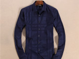 2016休闲修身暗纹外贸男士长袖衬衫 薄