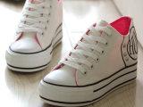 2015春夏帆布鞋中高帮学生韩版休闲系带鞋子运动女士布鞋淘宝货源