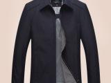 厂家直销 新款男装薄款春秋夹克上衣中年男士休闲条纹翻领上衣
