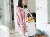 2013时尚孕妇装 孕妇外套  孕妇上衣 孕妇开衫 红白条纹81